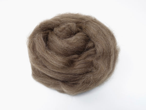 Yak Down Combed Top- 50g & 100g- Light Brown