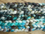 Fade Pack- Superwash BFL & Ramie, 5 co-ordinating braids, Hand Dyed British Wool, 500g