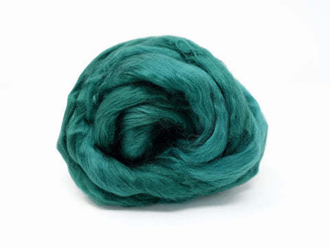 Bamboo Rayon Combed Tops-Emerald, 50g& 100g