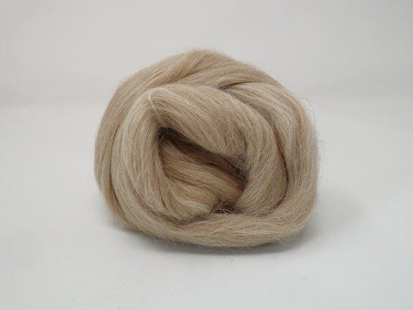 Baby Alpaca Combed Top- 50g & 100g- Fawn