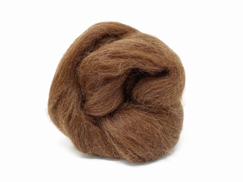 Baby Alpaca Combed Top- 50g & 100g - Brown