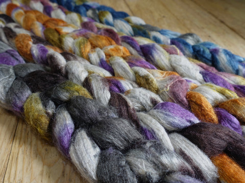 Fade Pack- Merino & Silk, 5 co-ordinating braids, Hand Dyed, 500g