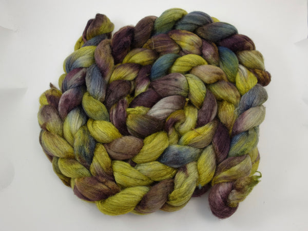Merino & Silk. Hand Dyed, Variegated, 50-50 blend, 100g - Hilltop Cloud