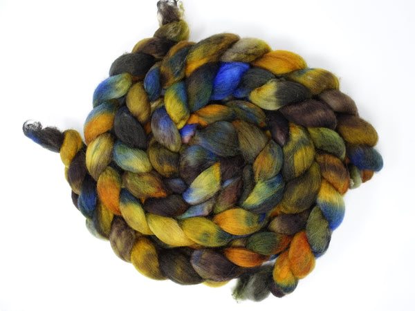 Cambrian Wool, Hand Dyed Welsh x BFL Wool, 100g. Variegated