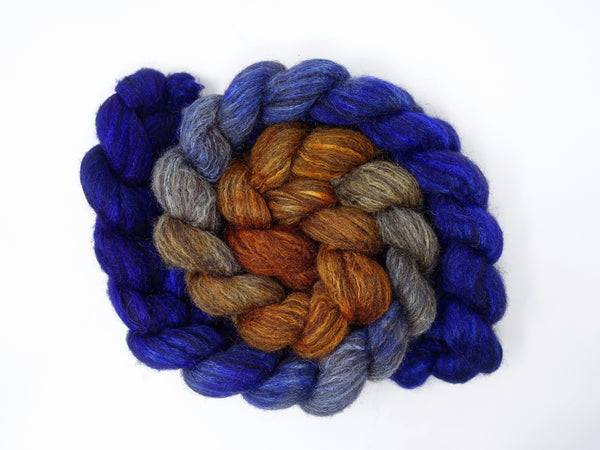 Zwartbles & Silk. Hand Dyed Double Ombre Gradient, 100g.