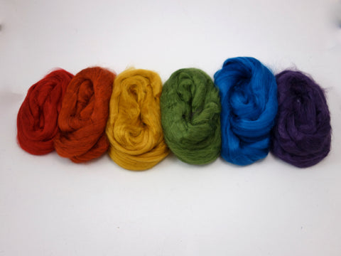 Tussah Silk Colour Pack- 120g- Roy G. Biv (DHG)