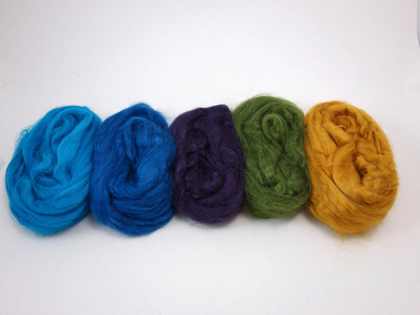 Tussah Silk Colour Pack- 100g- Peacock (DHG)