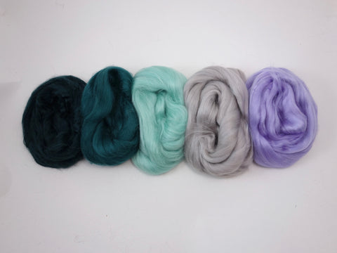 Tussah Silk Colour Pack- 100g- Pine Forest (DHG)