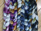 Fade Pack- Polwarth, Superfine Merino & Silk. 5 co-ordinating braids, Hand Dyed Wool, 500g