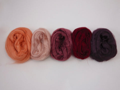 Tussah Silk Colour Pack- 100g- Velvet (DHG)