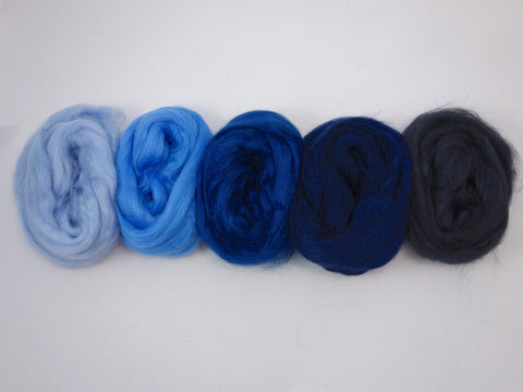Tussah Silk Colour Pack- 100g- Atlantic (DHG)