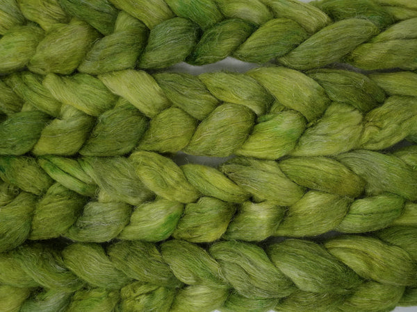 Romney, Silk & Linen. Hand Dyed, Semi-Solid- 100g. British Wool