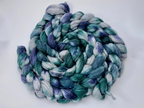 Corriedale, Yak, Rose, Hand Dyed-Variegated, Combed Top, 100g