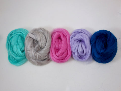 Tussah Silk Colour Pack- 100g- Fairy (DHG)