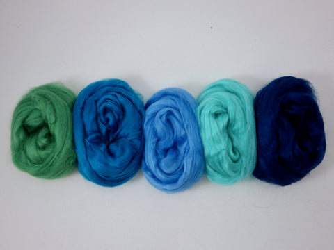 Tussah Silk Colour Pack- 100g- Mermaid (DHG)