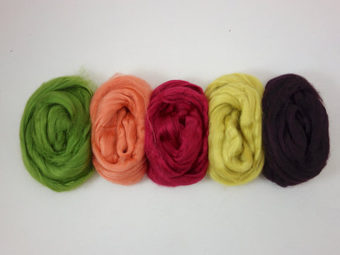 Tussah Silk Colour Pack- 100g- Protea (DHG)
