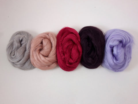 Tussah Silk Colour Pack- 100g- Sweet Pea (DHG)