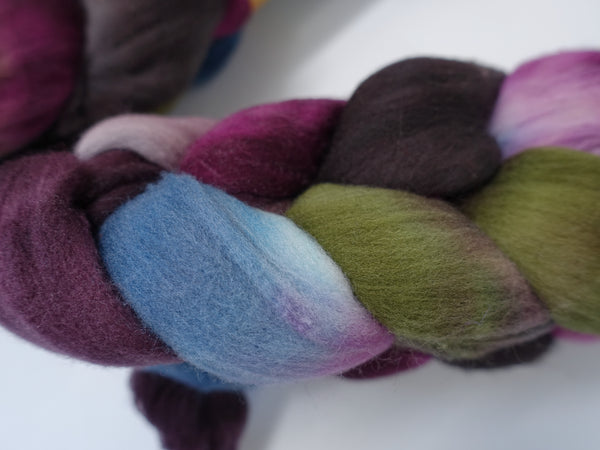 Rambouillet, Hand Dyed Variegated & Repeating. 100g
