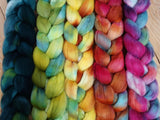 Fade Pack- Superfine Shetland, 5 co-ordinating braids, Hand Dyed British Wool, 500g
