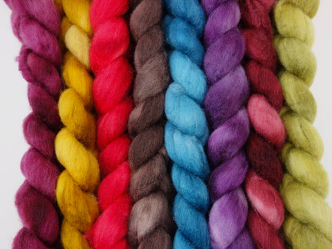 Cambrian Wool, Leominster Priory Collection-  Halleluia. Hand Dyed Welsh x BFL Wool, 100g. Semi-Solid - Hilltop Cloud