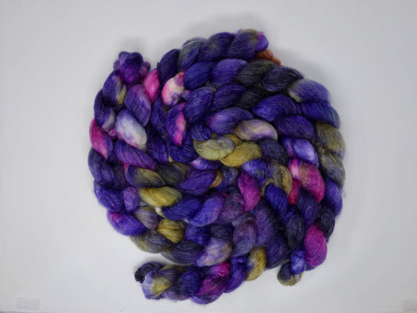 Superwash BFL & Ramie, Hand Dyed, Variegated, 100g