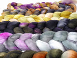 Dyers Half-Dozen- Ultra Fine 14.5 micron Merino, 6 co-ordinating mini braids, Hand Dyed Wool, 360g
