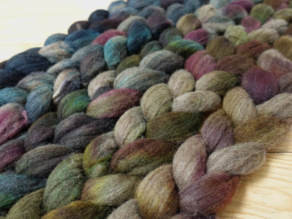 Fade Pack- BFL, 5 co-ordinating braids, Hand Dyed British Wool, 500g