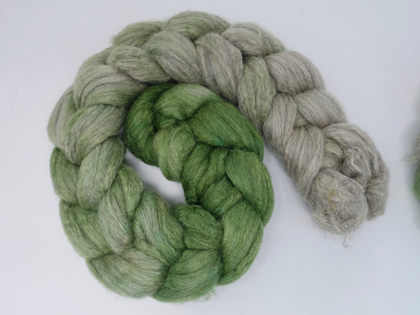 Merino & Silk. Hand Dyed Ombre Gradient, 50-50 blend, 100g