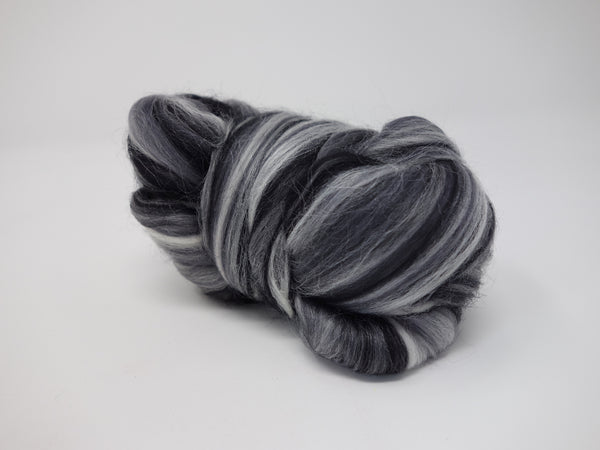 Superfine 19 micron Merino & Tussah Silk, 70-30 blend. 50g- Photography (DHG)