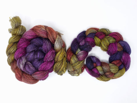 Zwartbles & Silk. Hand Dyed Gradient.  100g