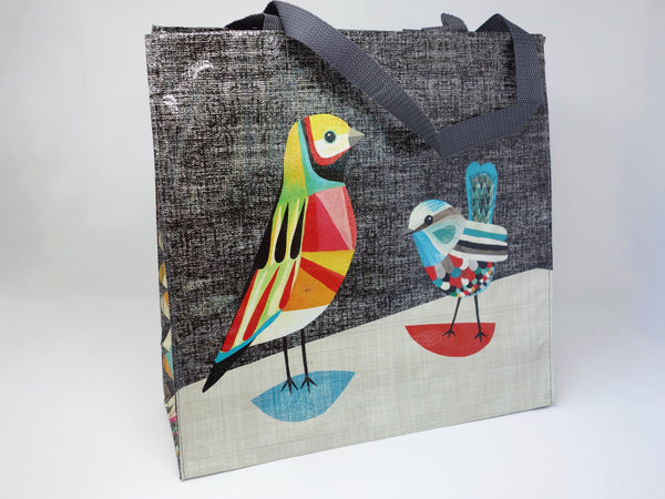 Shopping Bag -Pretty Bird (Blue Q)