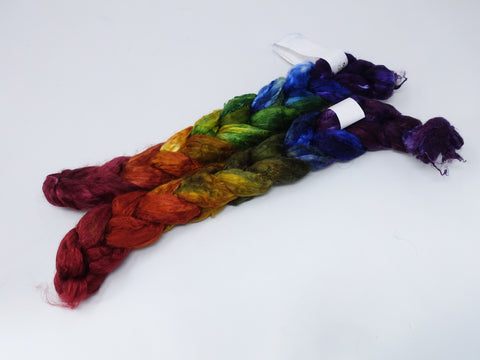 Mulberry Silk Top, Hand Dyed Gradient , 50g