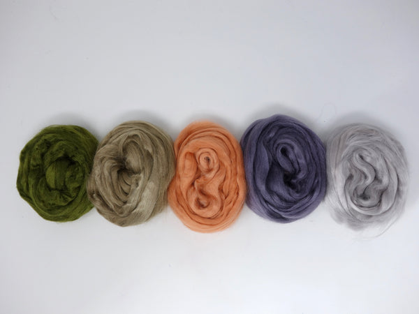 Tussah Silk Colour Pack- 100g- Sea Urchin (DHG)
