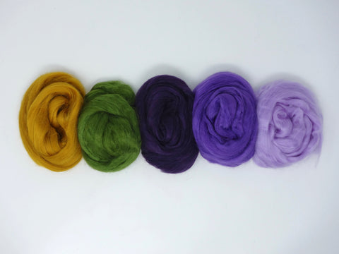 Tussah Silk Colour Pack- 100g- Pansy (DHG)