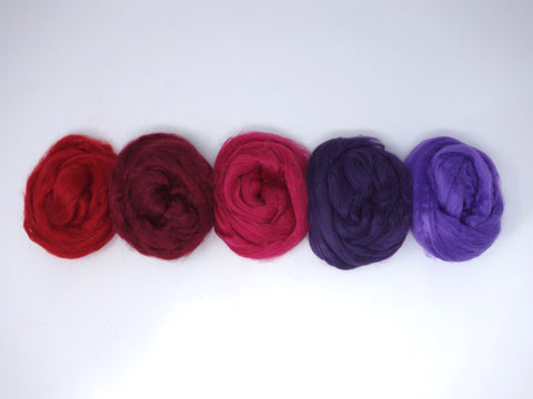 Tussah Silk Colour Pack- 100g- Fuchsia (DHG)