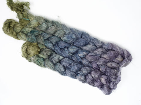 Kid Mohair & Peduncle Silk, Hand Dyed Gradient. 100g