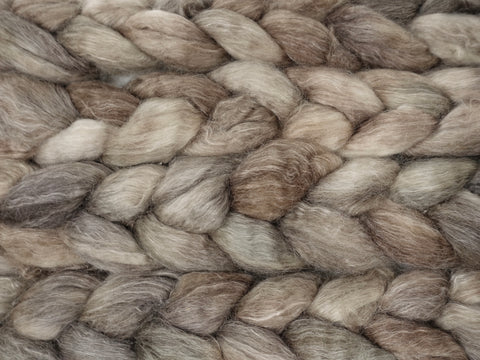 Superwash BFL & Ramie, Hand Dyed Semi Solid, 100g