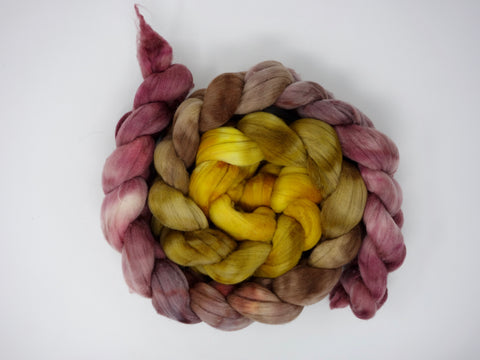 Rambouillet, Hand Dyed Combed Top, 100g, Gradient