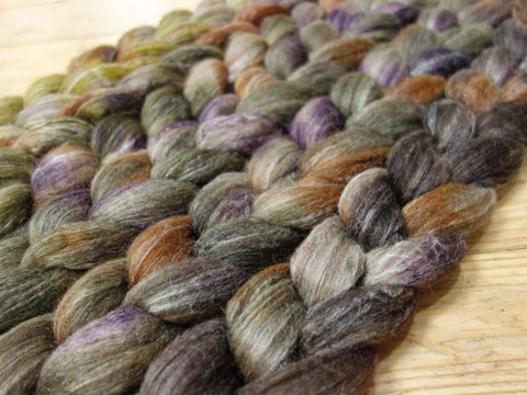 Fade Pack-BFL,Alpaca & Seacell, 5 co-ordinating braids, Hand Dyed British Wool, 500g