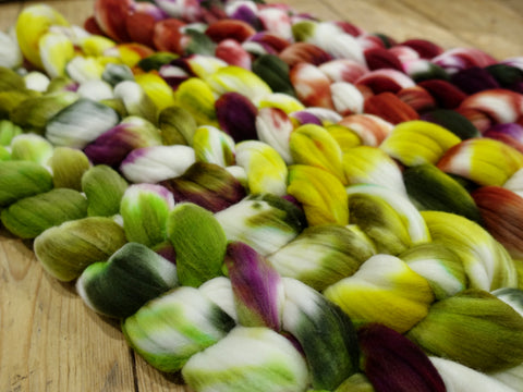Fade Pack- Rambouillet, 5 co-ordinating braids, Hand Dyed Wool, 500g