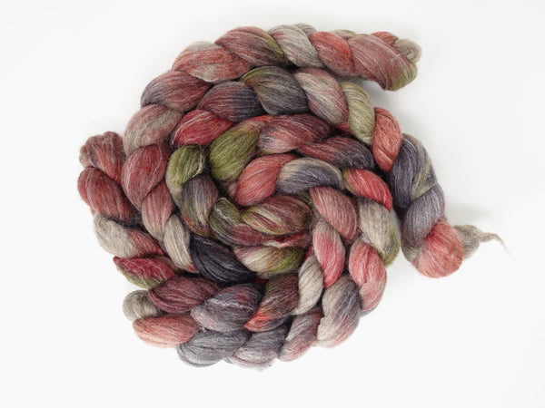 BFL, Alpaca & Seacell. Hand Dyed Variegated, 100g