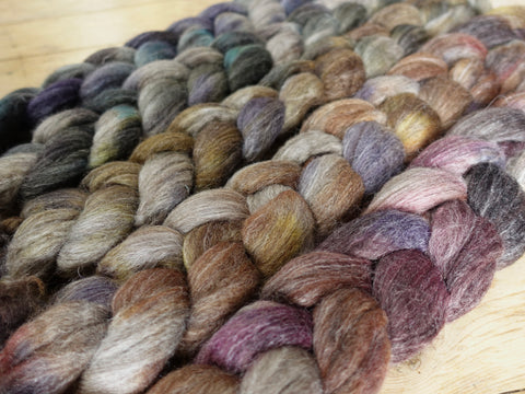 Fade Pack-BFL, Alpaca & Seacell, 5 co-ordinating braids, Hand Dyed British Wool, 500g
