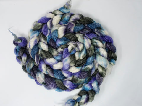 Superwash BFL & Ramie, Hand Dyed Variegated, 100g