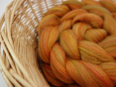 Sif- Nordic Collection. Blended Corriedale & Merino Top, 100g - Hilltop Cloud
