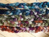 Fade Pack- BFL & Camel, 5 co-ordinating braids, Hand Dyed British Wool, 500g