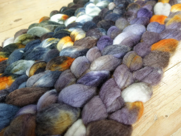 Fade Pack- BFL, 5 co-ordinating braids, Hand Dyed Wool, 500g