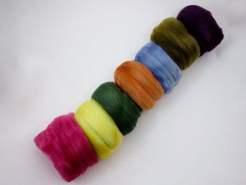 Bach Pack, Wildflower Colourway - 140g Falkland Merino - Hilltop Cloud