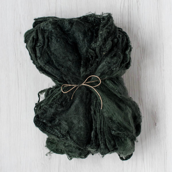 Dark Green Silk Hankies