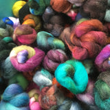 Bits of Biffle, Hand Dyed BFL Combed Top, 150g, Assorted Colour goodie bag