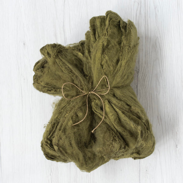 Silk Hankies, 20g, Olive (DHG) - Hilltop Cloud